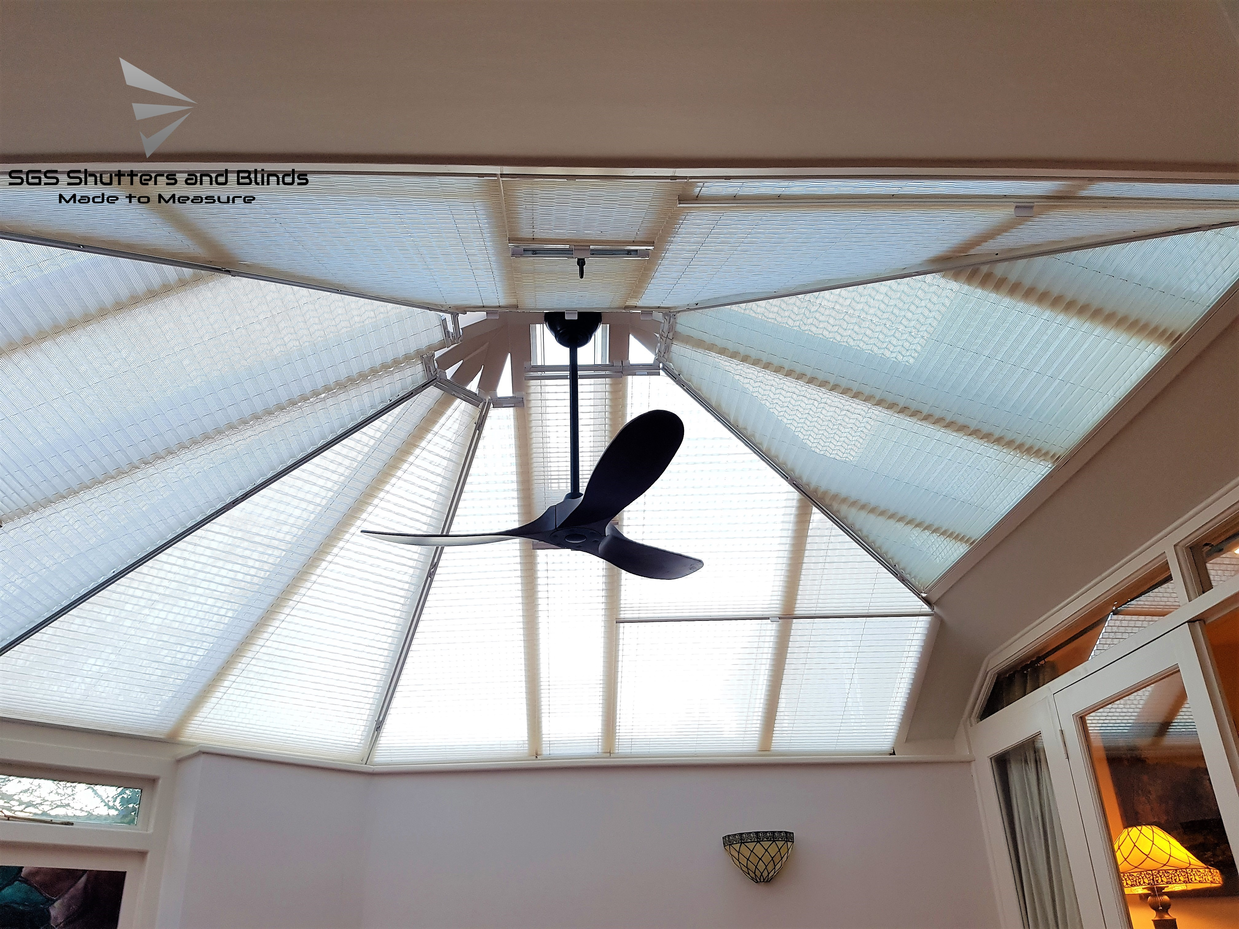 Conservatory Roof Blinds Shape Sgs Shutters And Blinds