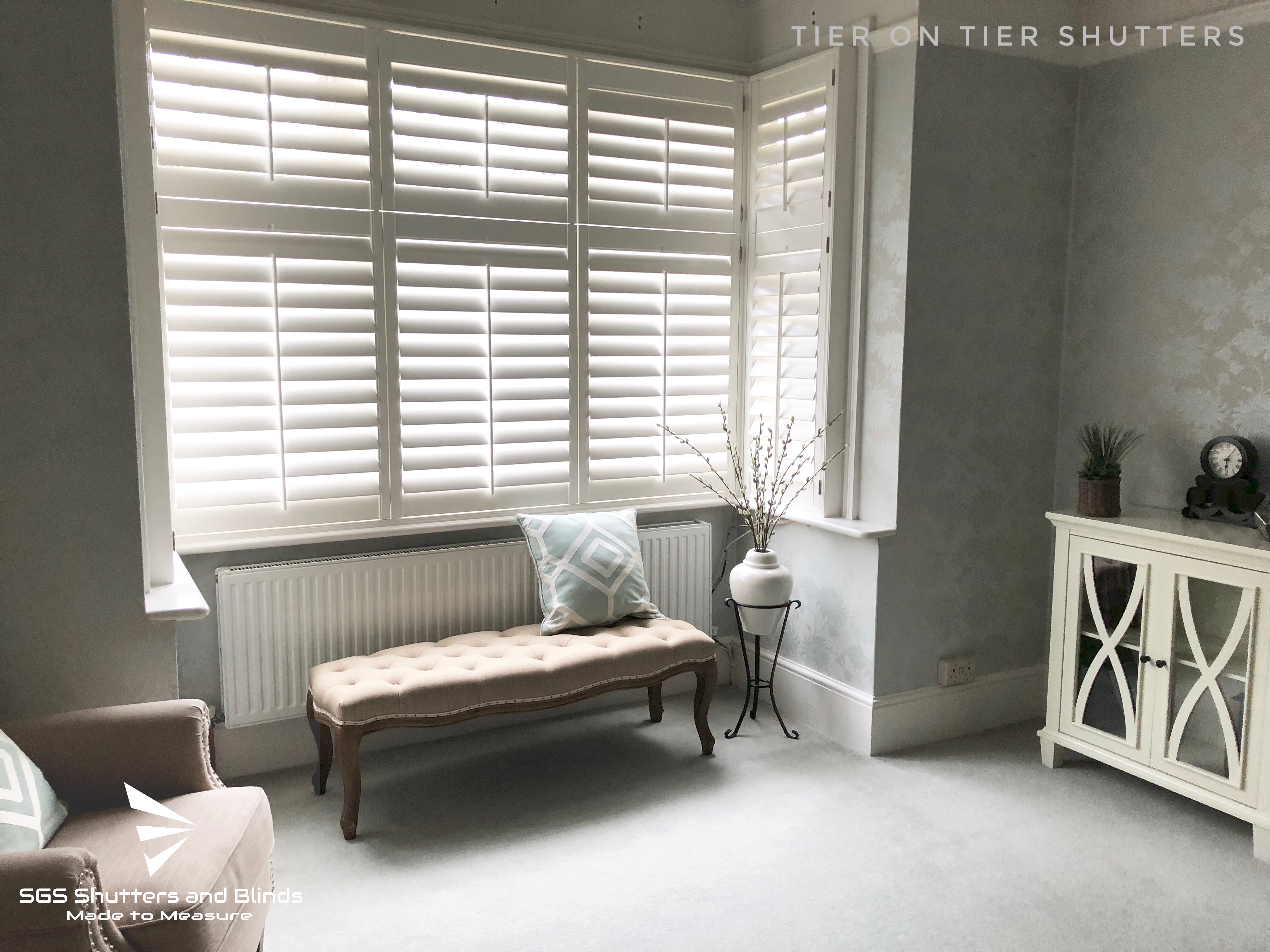 Bay Window Tier On Tier Shutters Sgs Shutters And Blinds Project