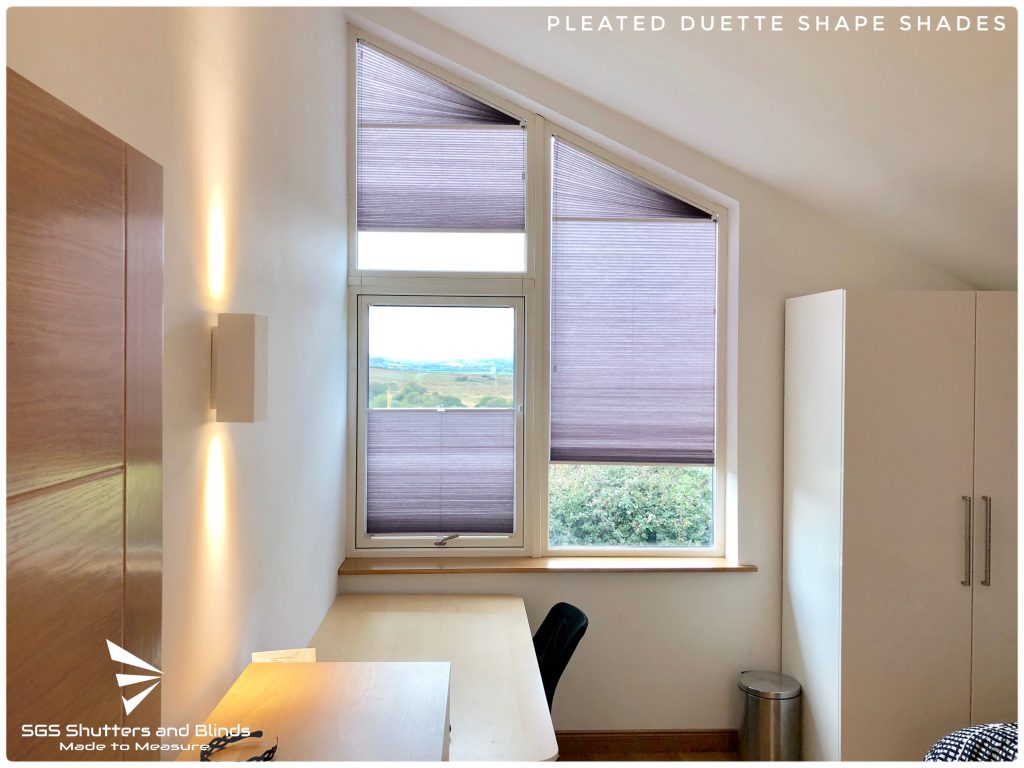 Shape Pleated Duette Shades Sgs Shutters And Blinds