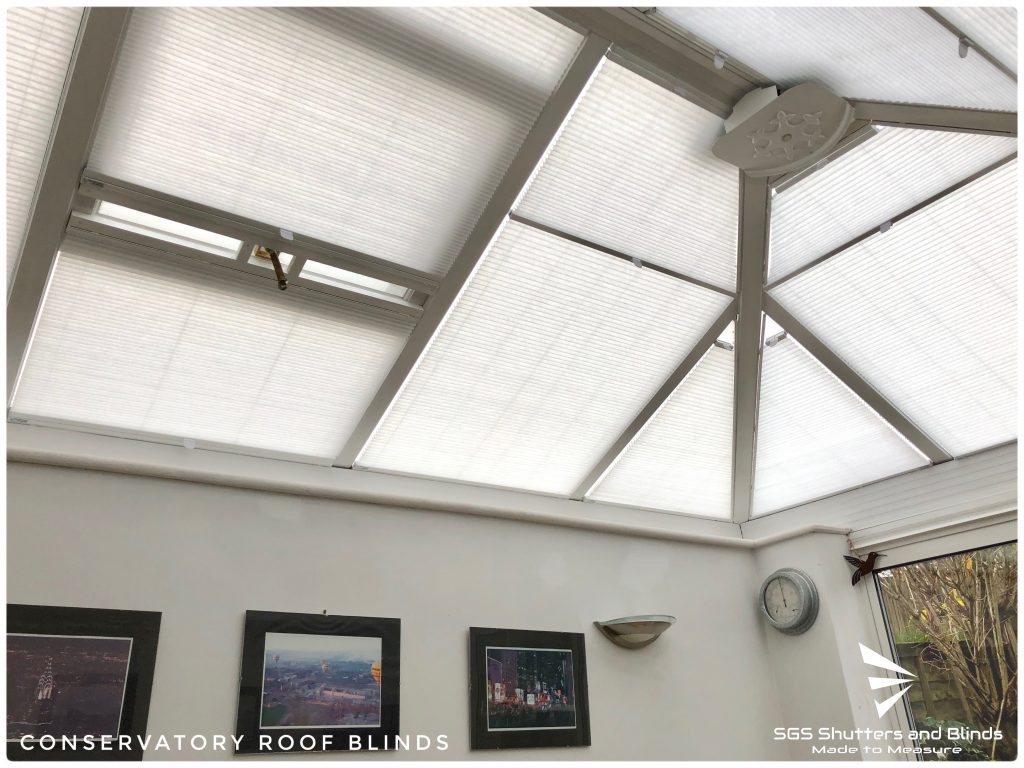 Conservatory Duette Roof Blinds Sgs Shutters And Blinds