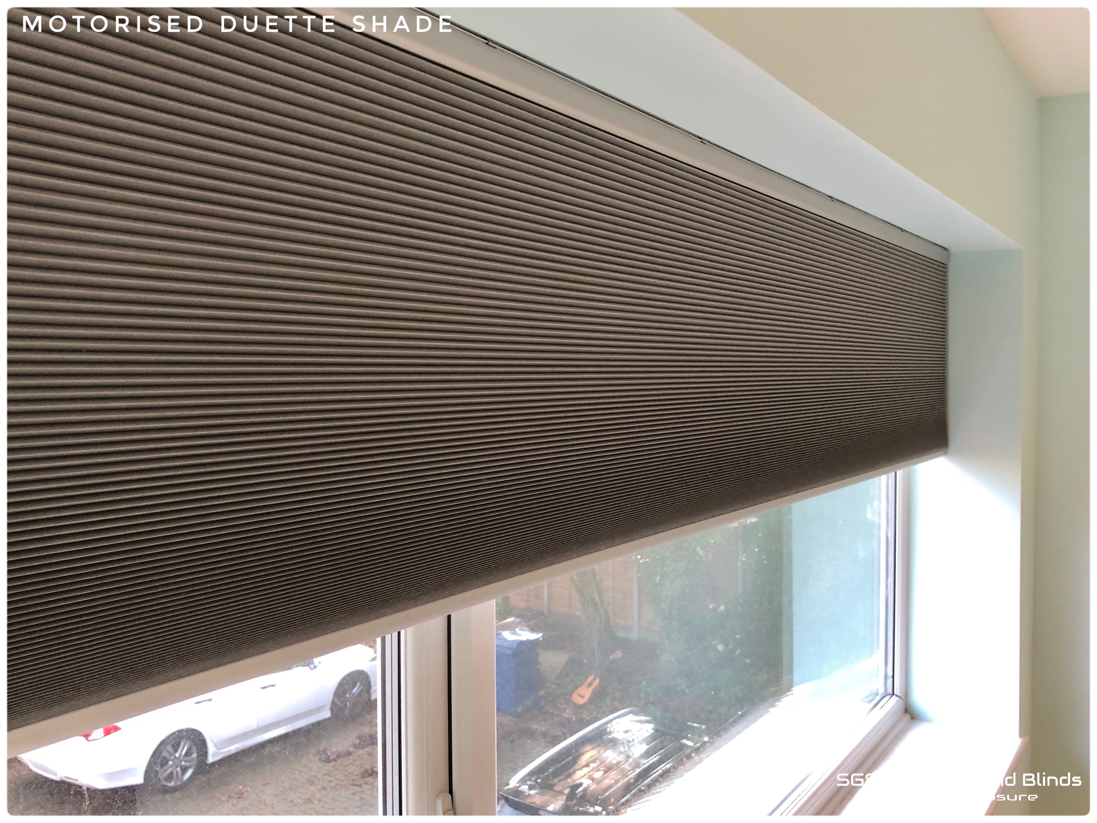 Motorised Duette Shade Sgs Shutters And Blinds